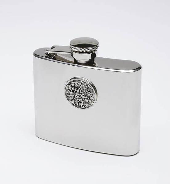 Hip Flask with Celtic Embossing