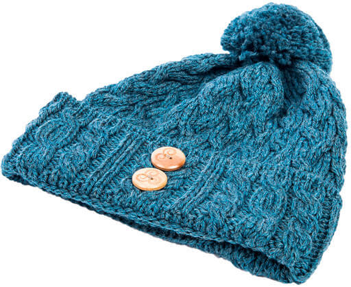 Cable Knit Merino Hat- B547