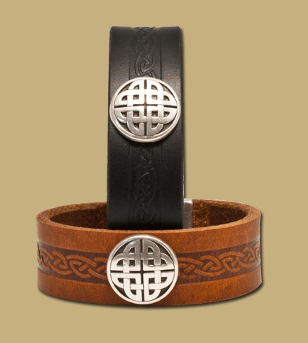 Craig - Leather Celtic Cuff