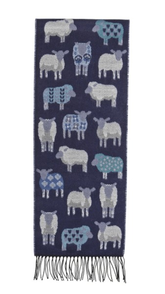 Sheep Scarf - Navy
