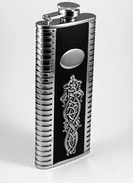 Celtic Dragon Slimline Flask