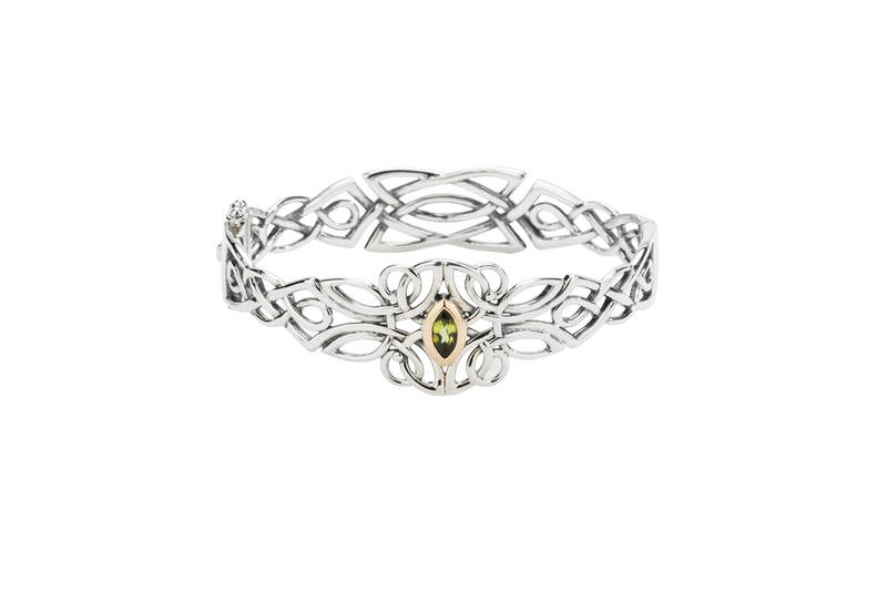 Guardian Angel Bangle with Peridot