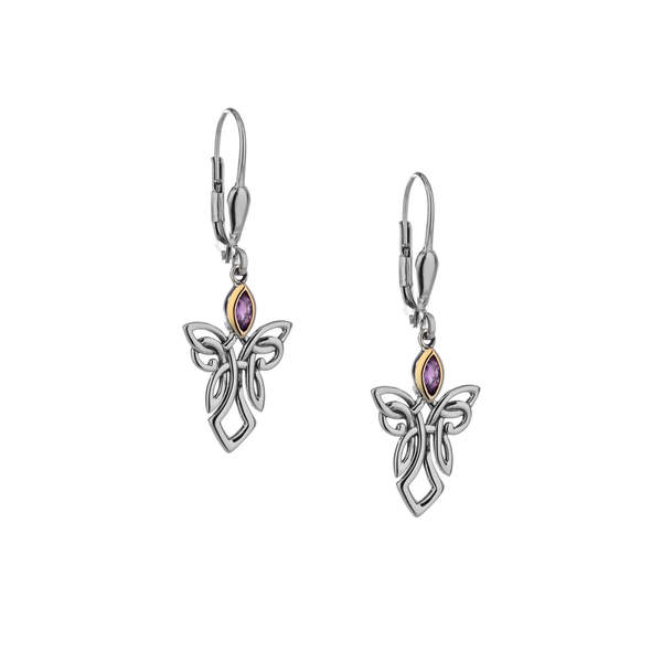 Guardian Angel Earrings with Amethyst