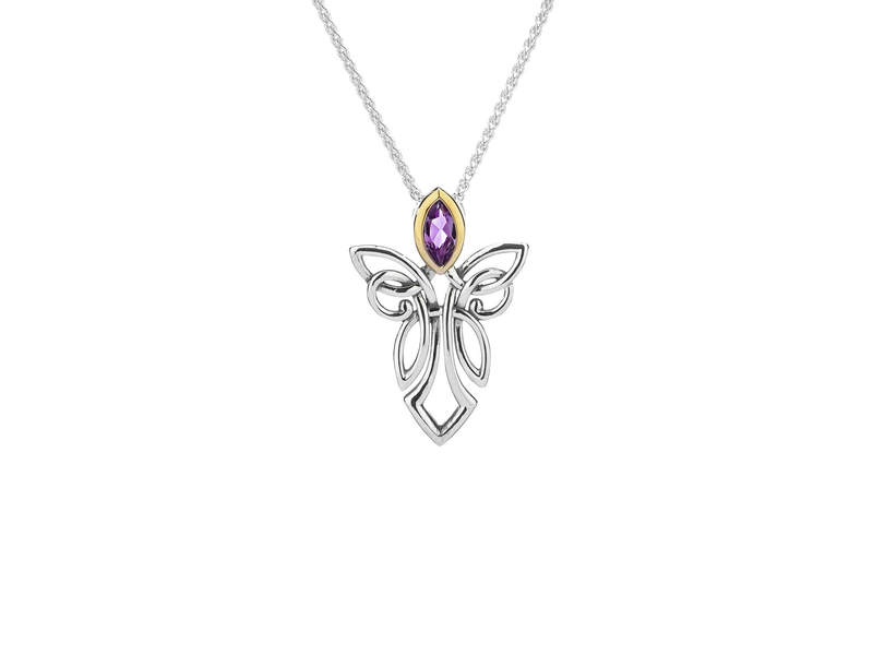 Guardian Angel Pendant with Amethyst