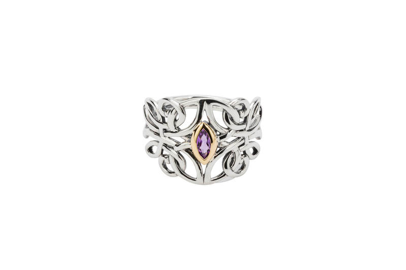 Guardian Angel Ring with Amethyst