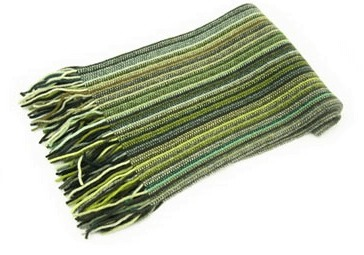 Striped Lambswool Scarf - Green