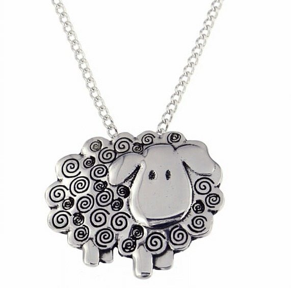 Swirly Sheep Pendant