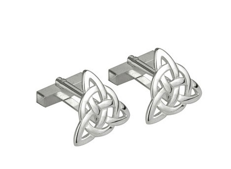 Cuff Links - Sterling Silver Trinity Knot