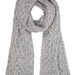 Aran Scarf - Light Grey